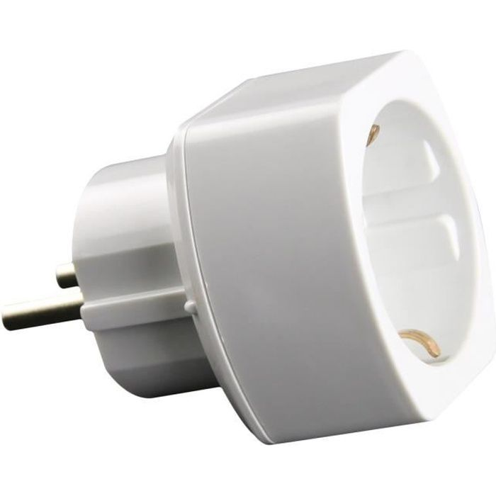 zenitech adaptateur schuko vers france blanc achat vente adaptateur de voyage adaptateur m. Black Bedroom Furniture Sets. Home Design Ideas