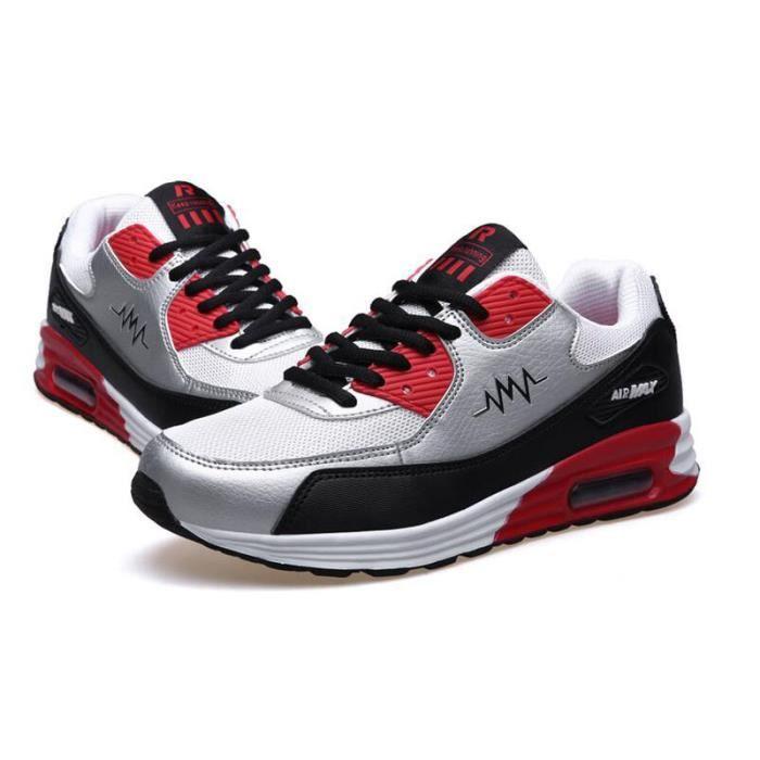 Baskets Homme Air Chaussures Respirantes Mode KIANII® Argent