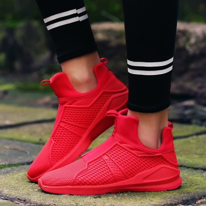 Mesh hommes Hommes 39 Mode On Respirables rouge Chaussures Slip Casual Chaussures Sport pour vOpvqd