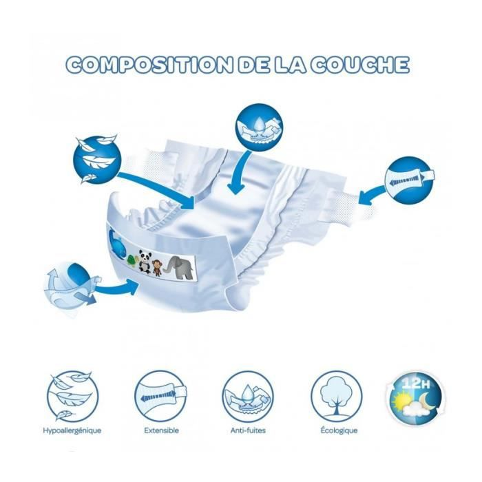 Tidoo 46 Couches Taille 5 Junior 12 25kg Achat Vente Couche