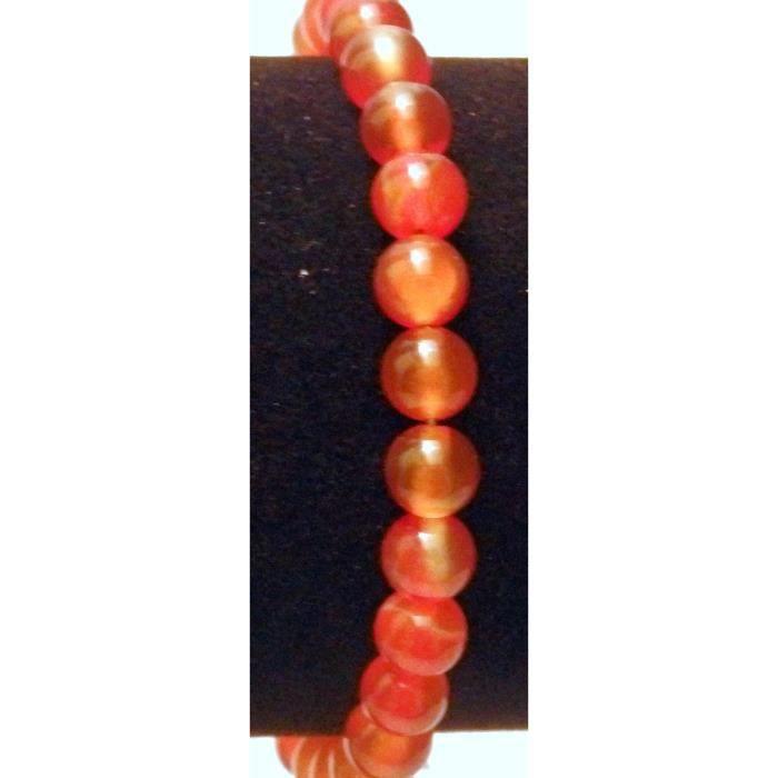 Bracelet perles Agate Rouge (900) Femmes YK0AN