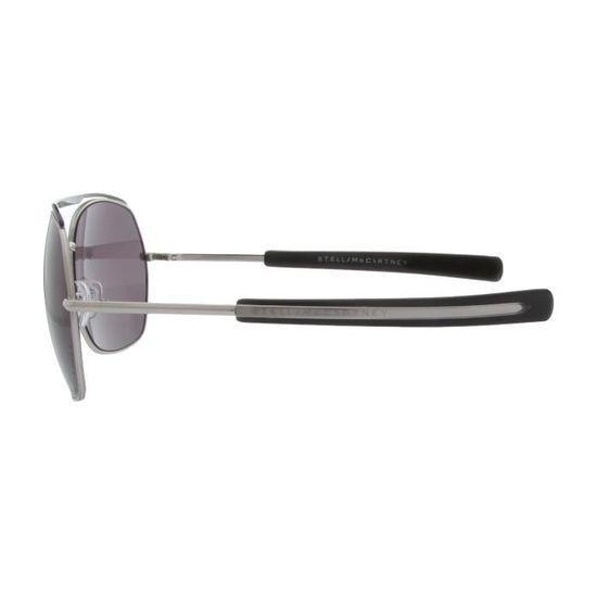 Stella McCartney Femmes Lunettes de soleil Argent   Noir STM81S-010BN -  Achat   Vente lunettes de soleil Femme Adulte Gris - Soldes  dès le 9  janvier ! c00ad07b5cbf