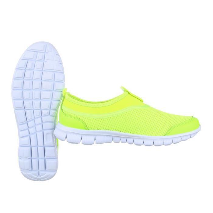 femme chaussures décontractées chaussure coureur chaussure de sportchaussure de sportvert