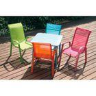 Fauteuil De Jardin LITTLE Pour Enfant Chaise Moderne En Metal Et Textilene