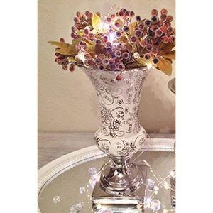 VASE - SOLIFLORE 25 cm TRUMPET vase en céramique et roses blanches