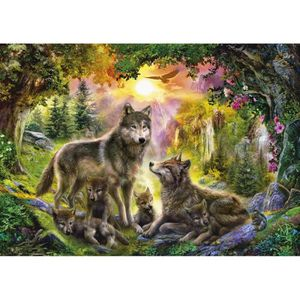 PUZZLE Puzzle 1500 pièces Loups