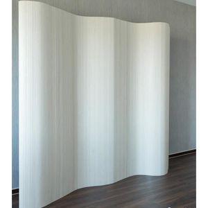 PARAVENT Paravent design en bambou 200 x 250 cm blanc