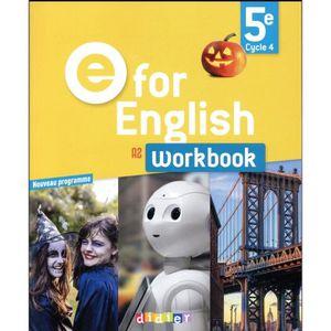 LIVRE COLLÈGE Livre - E FOR ENGLISH ; anglais ; 5e ; workbook (é