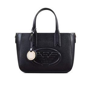 SAC À MAIN Emporio Armani Eagle Logo Femme Handbag Noir