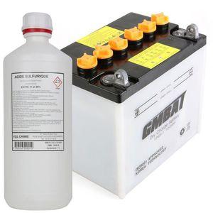 PIÈCE OUTIL DE JARDIN Batterie tondeuse 12N24-3A + acide - Produit neuf