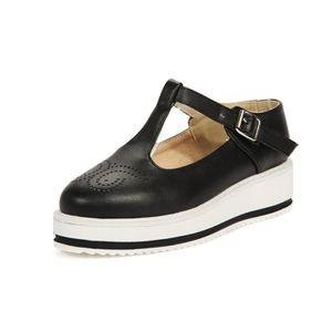 ESCARPIN Chaussures Femme Couleur Pure élégante Lacets Plat