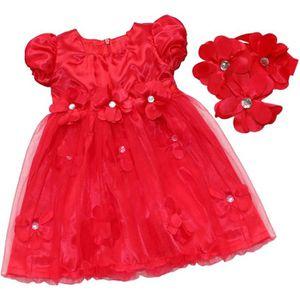 21a810c91f756 ROBE Fille Robe Pétales Princesse Bébé fête 6-24 mois j