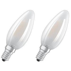 AMPOULE - LED OSRAM Lot de 2 Ampoules LED E14 flamme dépolie 4 W
