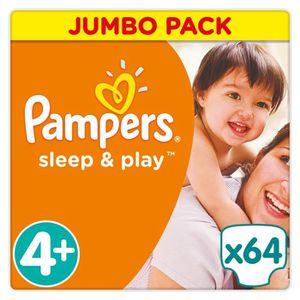 COUCHE Pampers Sleep & Play Taille 4+ 9-18 kg - 64 Couche