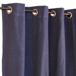 double rideaux bleu marine achat vente pas cher. Black Bedroom Furniture Sets. Home Design Ideas