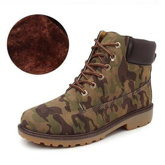 xz031gris36 jr Boots Femmes Peluche En Martin Cuir Bottines Confortable Classique Bylg I76gyYbvf