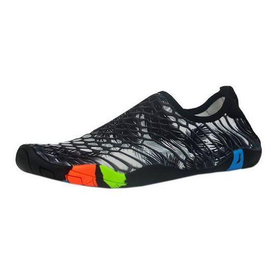 Chaussures de Sport Aquatique Unisexe Chaussette Natation Chausson Plongé Yoga Plage Noir Noir - Achat / Vente chaussures multisport