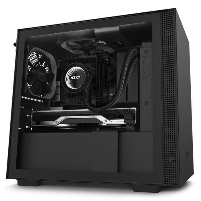 NZXT  H210i Matte Black Mini-Tour Noir ( H210i Mini-ITX RGB Gaming Case - Black Tempered Glass) - 50