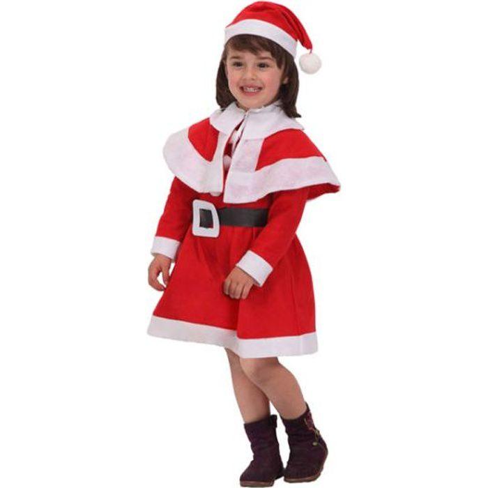 e1e66ca6360f1 Costume fille déguisement Père Noël - 10-12 ans - Achat   Vente ...