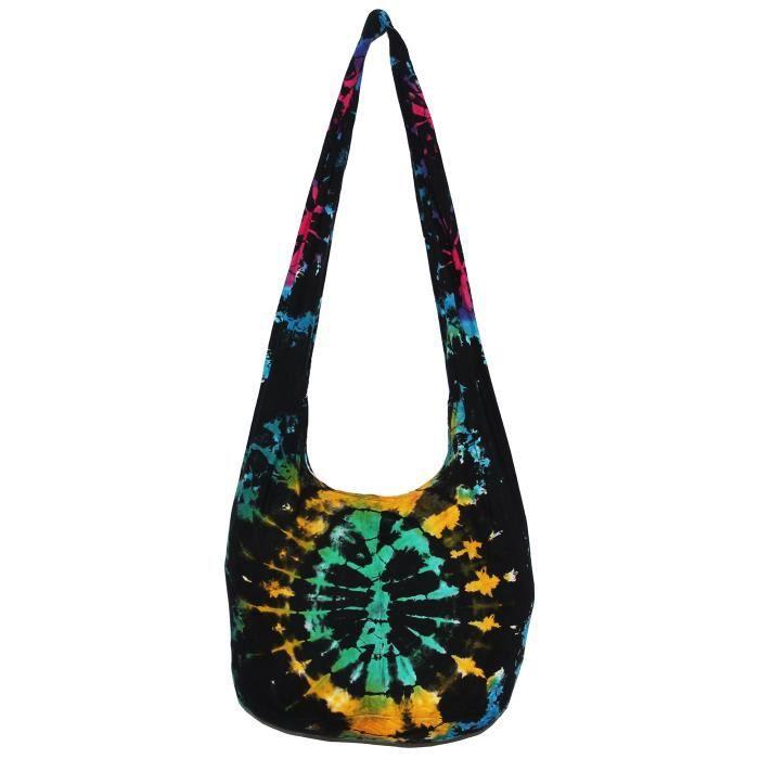 Tie Dye Bohemian Hipster Hippie Boho Hobo Crossbody Bag Purse 38 N7356 GN9HA