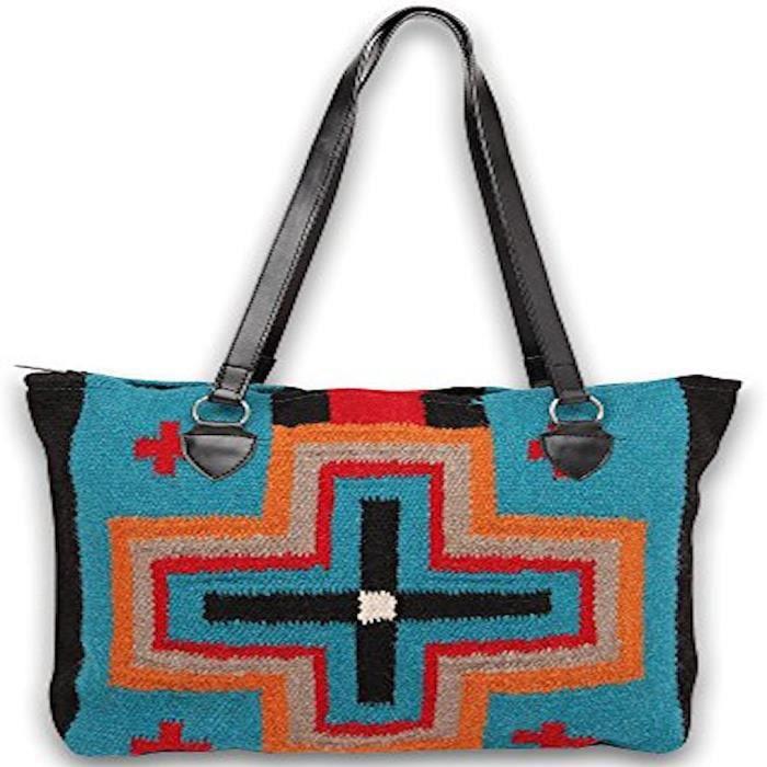 Importé tissé à la main Laine Maya moderne Designer Uni-sexe Sac fourre-tout OZ49U