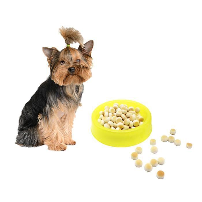 Pet Cat Puppy Plastique Alimentaire Alimentation En Eau Potable Bol Bonbons Couleur Ye - S Ycc70719555yes_109