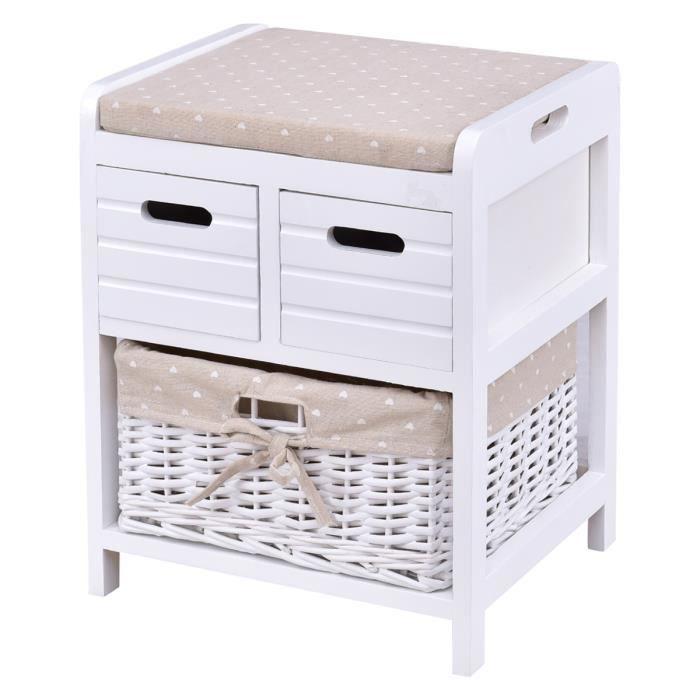 tabouret banc coffre couloir banque si ge commode de panier et bois tiroir coussin rangement. Black Bedroom Furniture Sets. Home Design Ideas