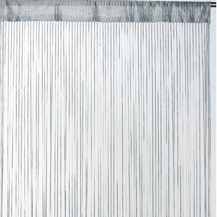 Rideau fils uni - Gris - 90cm x 2cm - Achat / Vente rideau - Cdiscount