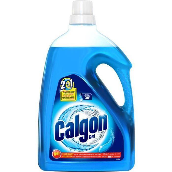 Calgon gel 2 en 1 anticalcaire et nettoyant lave linge 2 25 l achat vente produit - Nettoyant lave linge ...