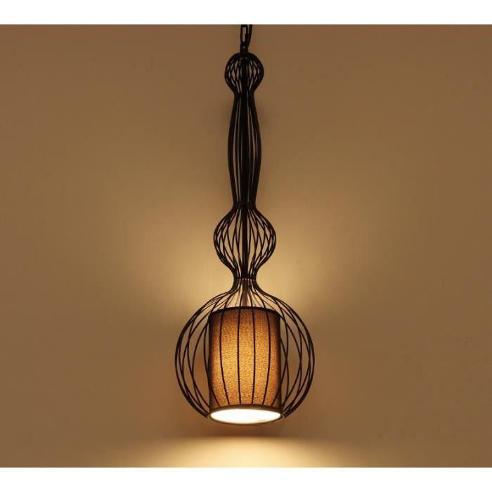 suspension cage fer noir achat vente pas cher. Black Bedroom Furniture Sets. Home Design Ideas