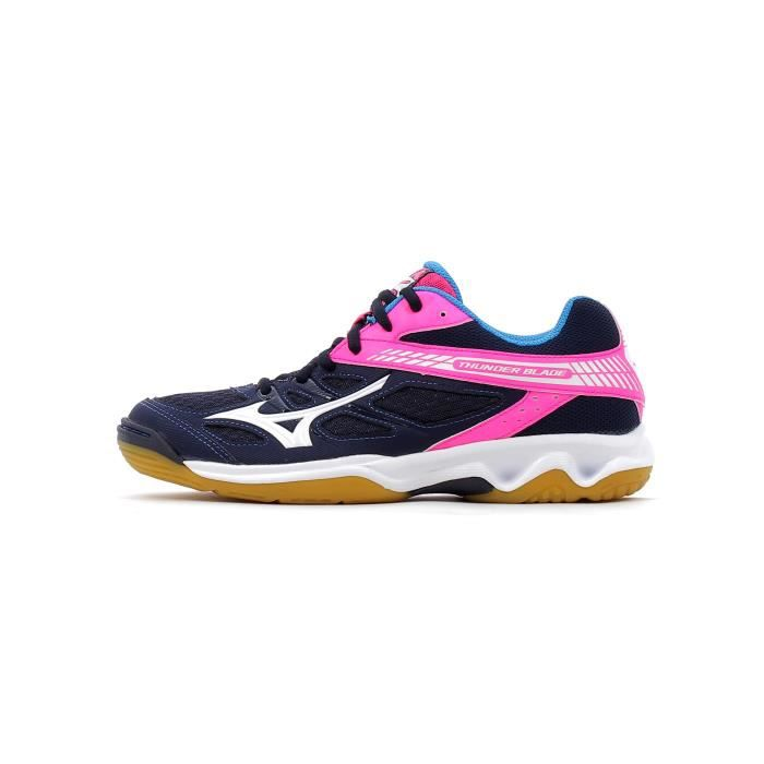 Mizuno Thunder Rouge-Rose - Chaussures Baskets basses Femme