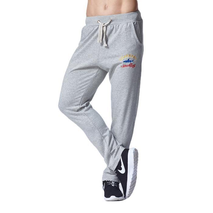 eafc7a3efa7a2 Pantalon de jogging Homme slim fit coton Pantalon Hommes sport XXL ...