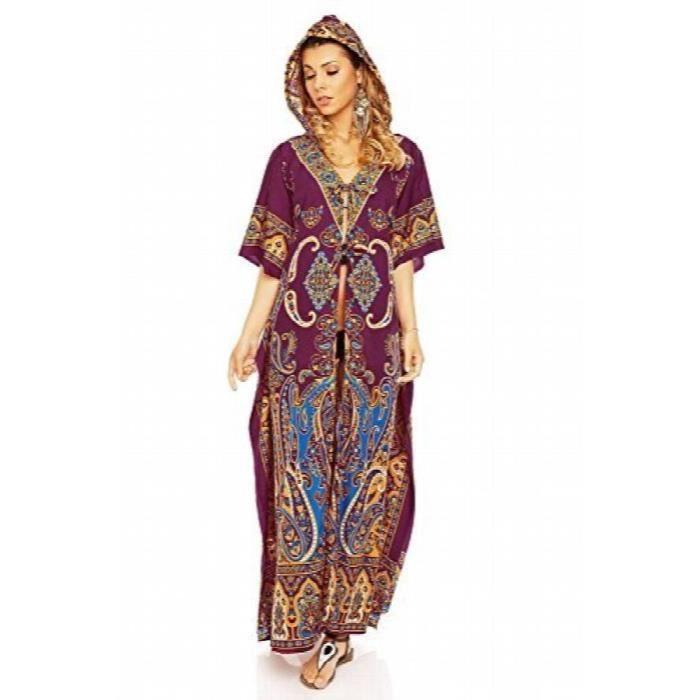 42d1d5dfccf longue tunique maxi kimono surdimensionnée pour femme robe longue kaftan à  capuche 3RH6DJ Taille-44