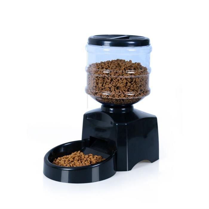 5.5l Automatique Distributeur D'aliment Pour Chien Chat Croquettes Programmable De Nourriture