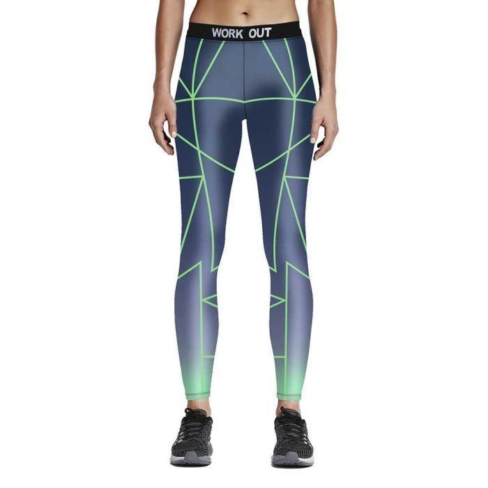 ad40a987ee9d1 Femme 3D Printed Sport Gym Leggings Yoga Jogging Pantalon taille haute 60