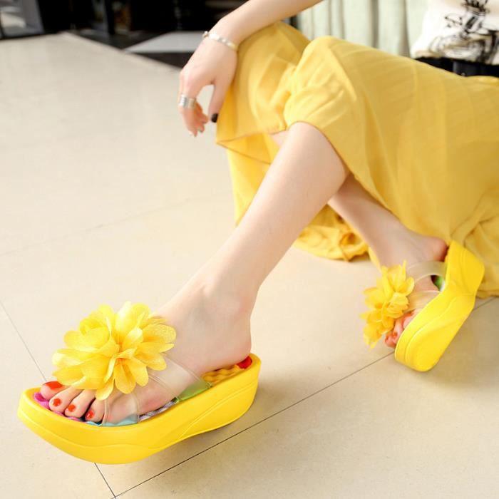 Sandales femmes plat mode nouvel été Décontractée de la fleur confortable XqW2d5bIsQ