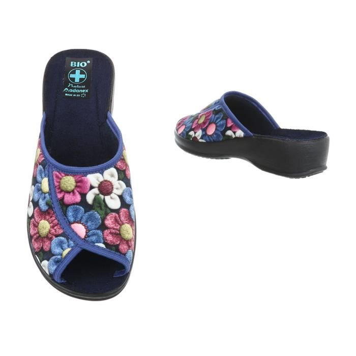femmes chaussures Loisirs Chaussures chaussons chaussons bleu Multi 36