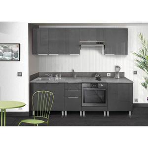 Meuble haut de cuisine 40 cm gris - Achat / Vente pas cher