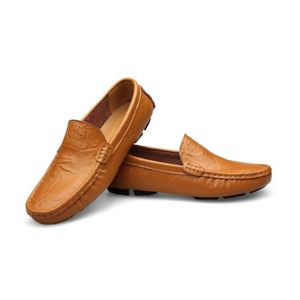 Mocassin Hommes Mode Chaussures Grande Taille Chaussures ZX-XZ73Orange41 nmg4Q1Rm3f
