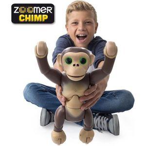 ZOOMER Chimp Robot singe Intéractif et radiocommandé Spinmaster