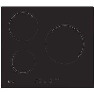 revendeur a25cd ec171 Table de cuisson vitrocéramique 59cm 3 feux 5.5kw noir ...