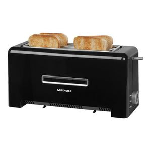 GRILLE-PAIN - TOASTER Medion MD 15709 Grille-pain 4 tranche 2 Emplacemen