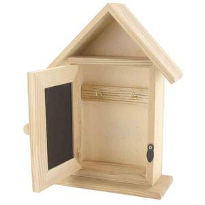 KIT SCRAPBOOKING Armoire à clés bois ardoise maison 20 x 13 x 5 cm