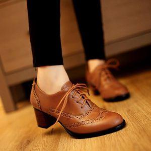 Chaussures richelieu femme talon , Achat / Vente pas cher