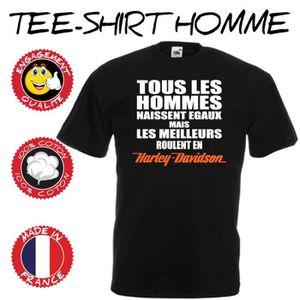 T-SHIRT Tee-shirt moto - Tous les hommes naissent égaux ma