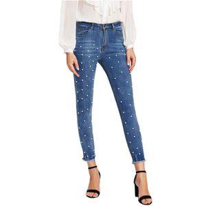 e118d3d667dfc Jeans femme avec perle - Achat / Vente pas cher