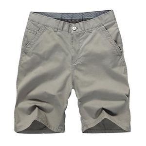 SHORT Short Coton Homme Coupe Droite Ete Bermuda Décontr