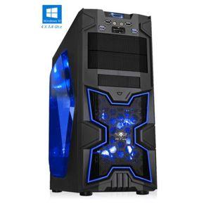 ORDINATEUR TOUT-EN-UN PC Gamer XFighters Bleu - FX 4300 - 8GO RAM - 1000