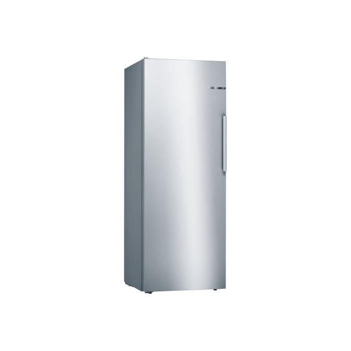 BOSCH KSV29VL3P - Réfrigérateur 1 porte - 290 L - Froid statique - A++ - L 60 x H 161 cm - Inox côté