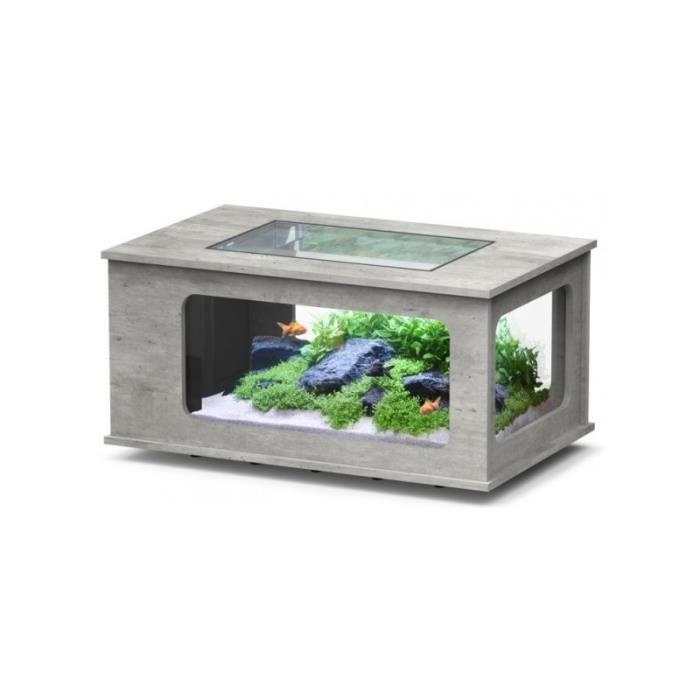 Aqua Vente Led Table 130x75 Basse Beton Achat wPZnO8N0kX